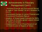 achievements in fiduciary management cont d9