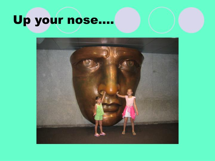 Up your nose….