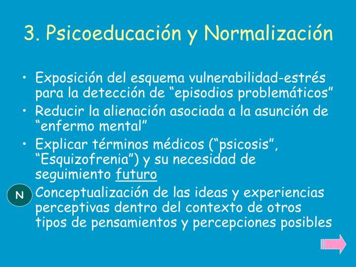 3. Psicoeducación y Normalización