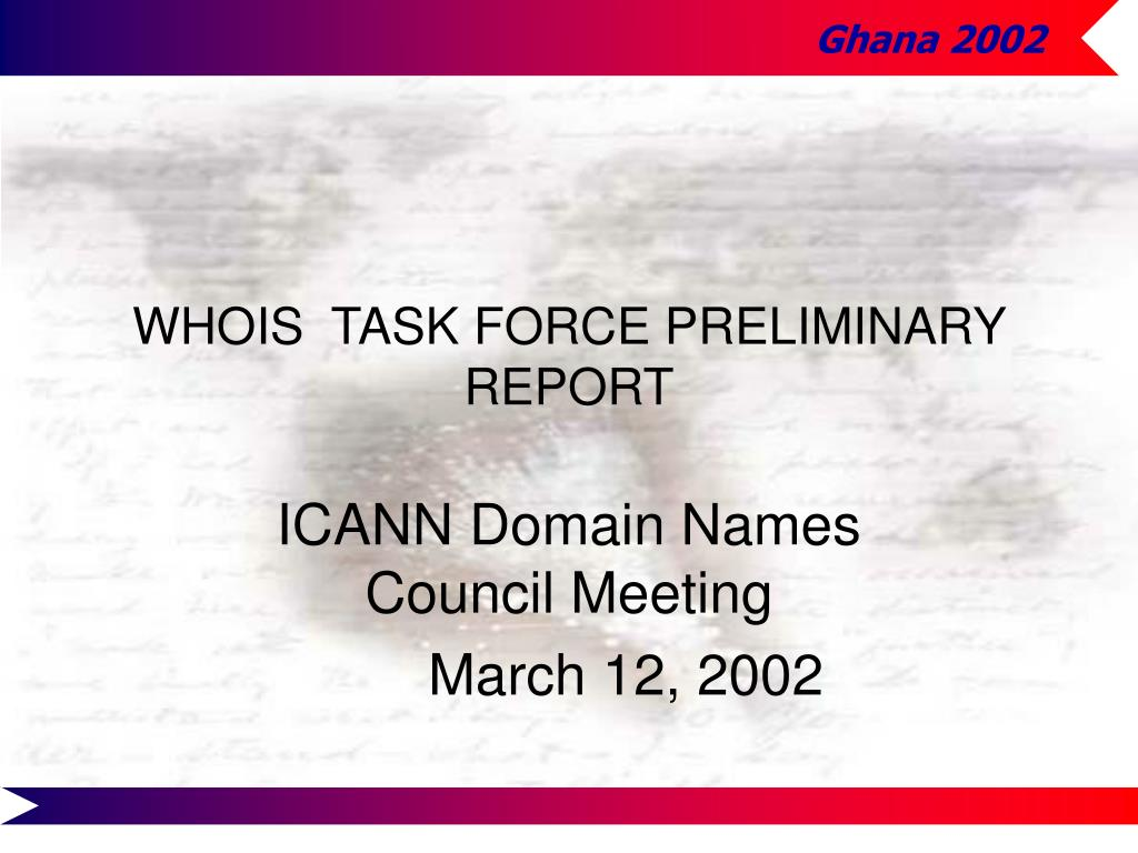 whois task force preliminary report