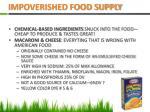 impoverished food supply
