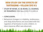new study on the effects of tartrazine yellow dye 5