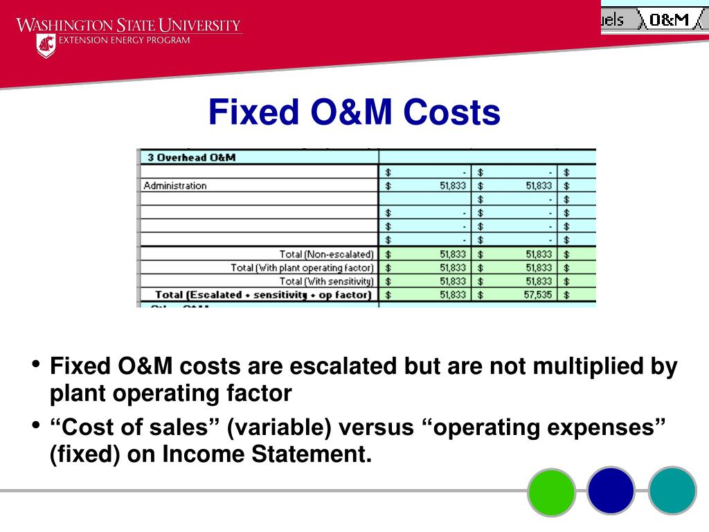 Fixed O&M Costs