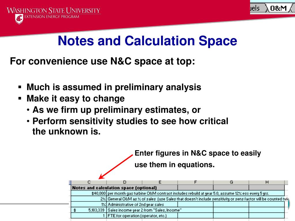 Notes and Calculation Space