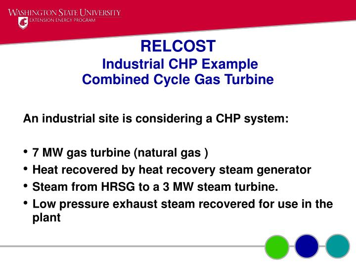 Relcost industrial chp example combined cycle gas turbine
