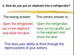 2 how do you put an elephant into a refrigerator