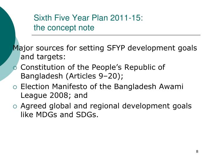 Sixth Five Year Plan 2011-15: