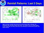 rainfall patterns last 5 days