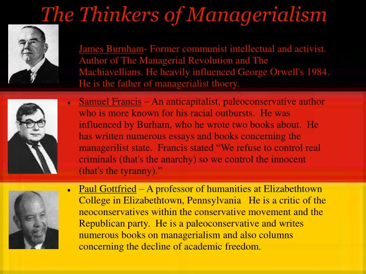 The Thinkers of Managerialism