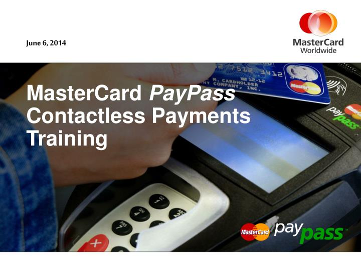 mastercard paypass contactless payments training n.