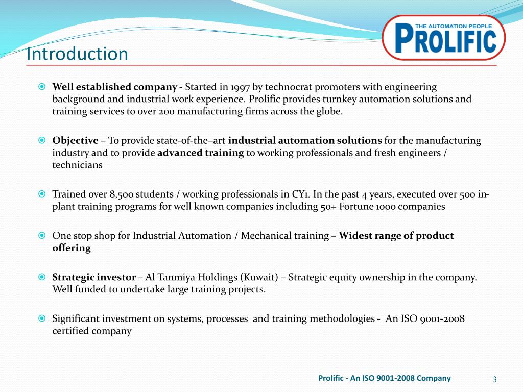 PPT - Company Profile and Training Methodology PowerPoint