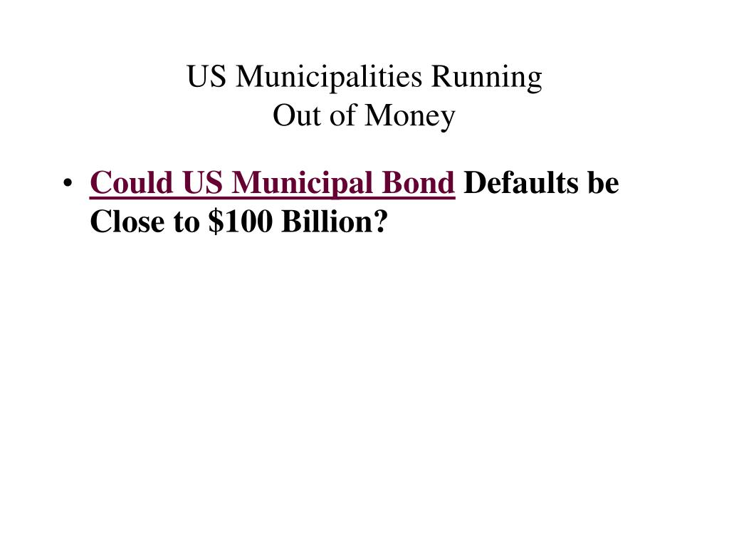 US Municipalities Running