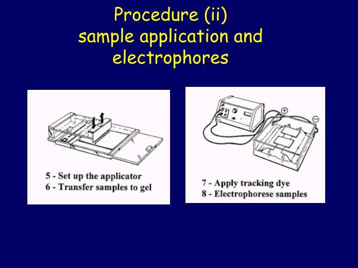 Procedure (ii)