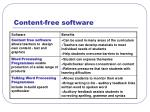content free software