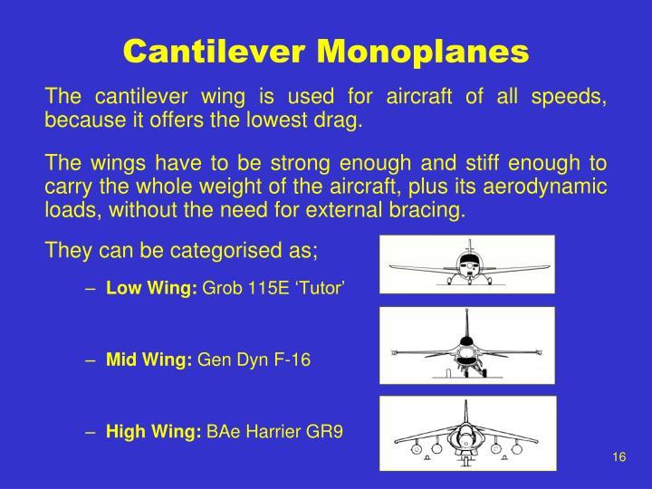 Cantilever Monoplanes
