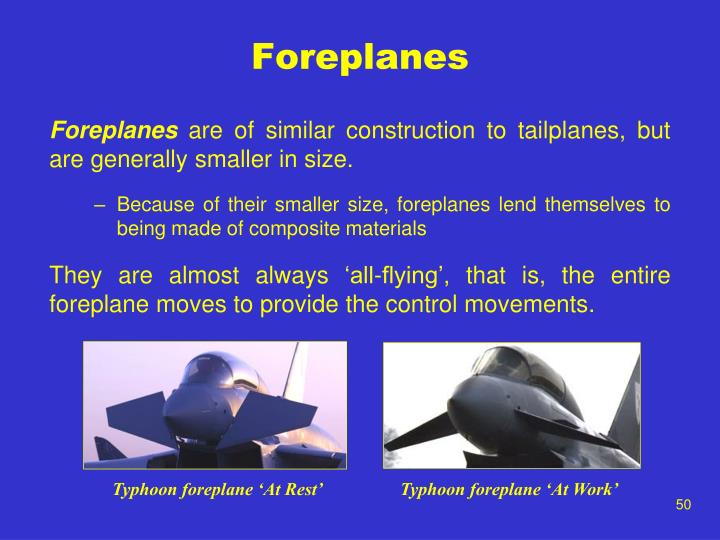 Foreplanes