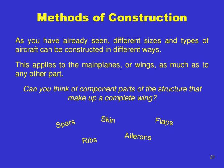Methods of Construction