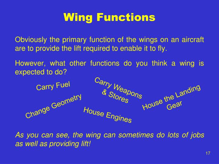 Wing Functions