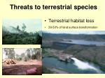threats to terrestrial species