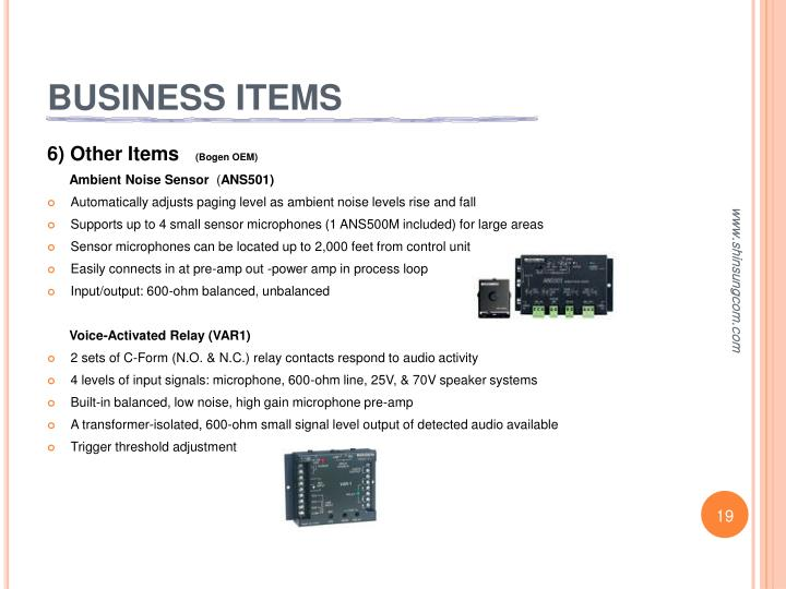 BUSINESS ITEMS