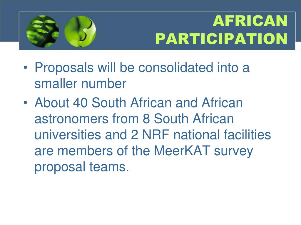 AFRICAN PARTICIPATION