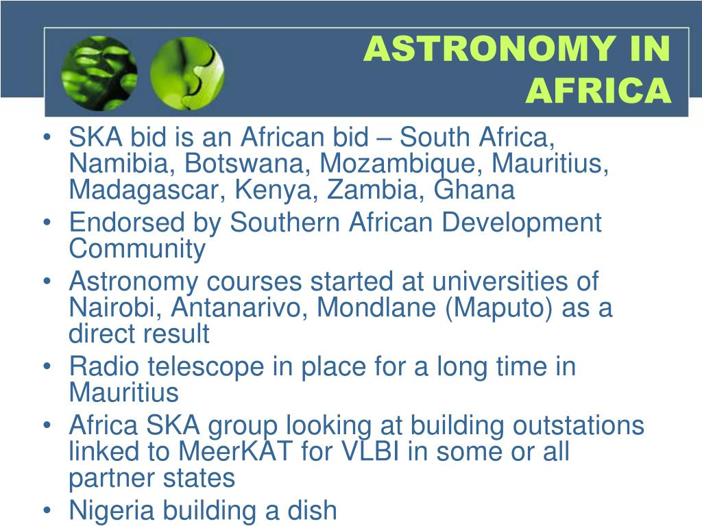 ASTRONOMY IN AFRICA