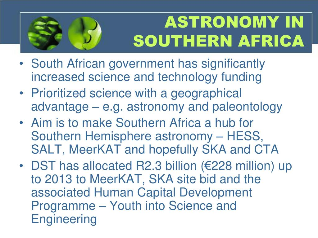 ASTRONOMY IN SOUTHERN AFRICA