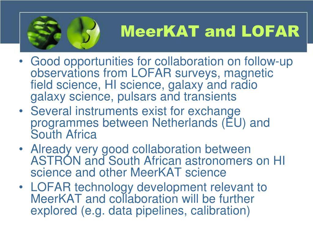 MeerKAT and LOFAR