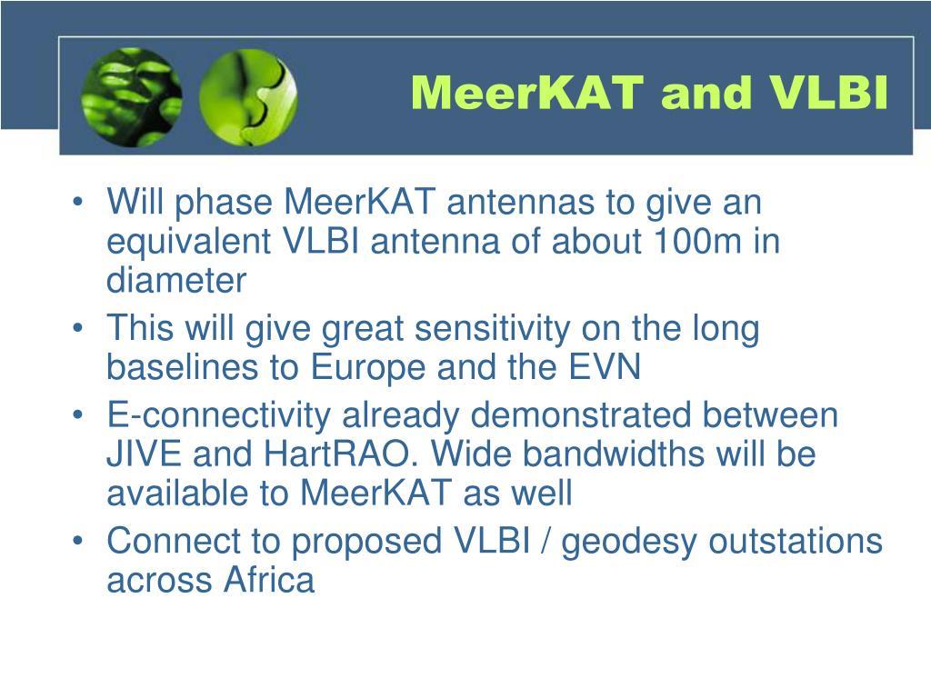 MeerKAT and VLBI