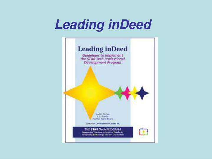 Leading inDeed