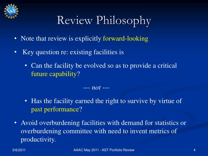 Review Philosophy