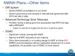 nwnh plans other items