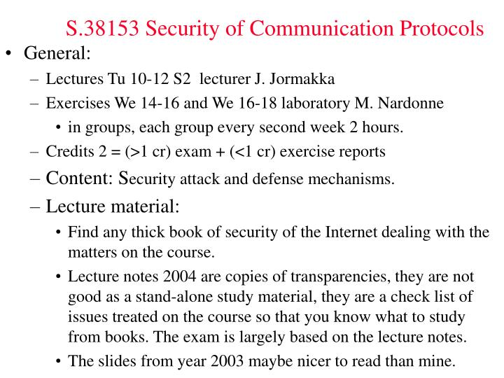 s 38153 security of communication protocols n.