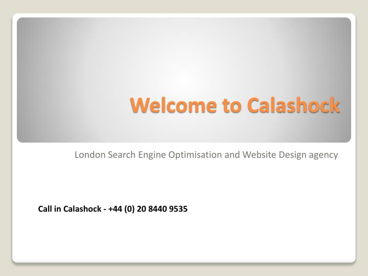 welcome to calashock n.