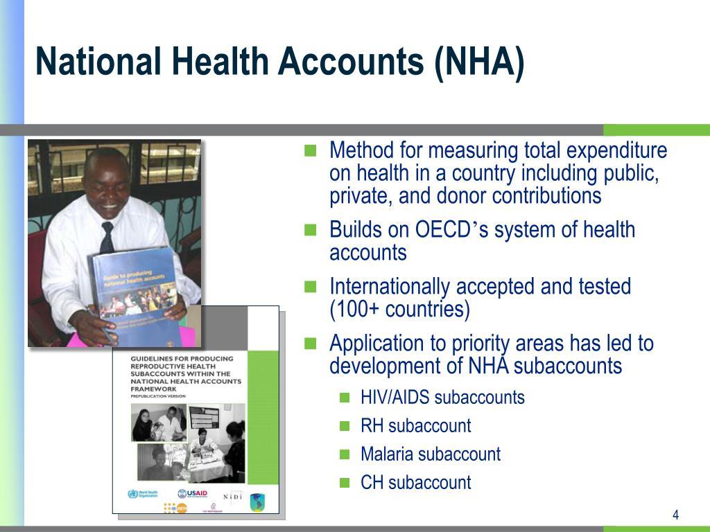 National Health Accounts (NHA)