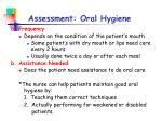 assessment oral hygiene
