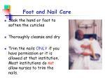 foot and nail care
