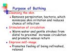 purpose of bathing