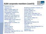 alba corporate members cont d