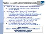 applied research international projects