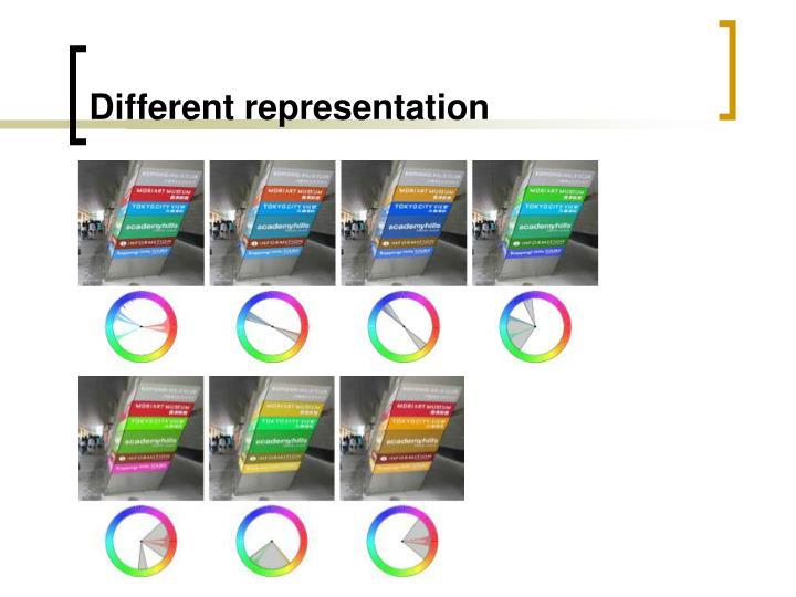 Different representation