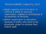 accountability capacity cont