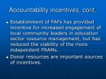 accountability incentives cont