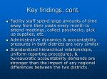 key findings cont