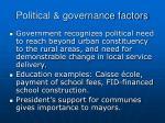 political governance factors