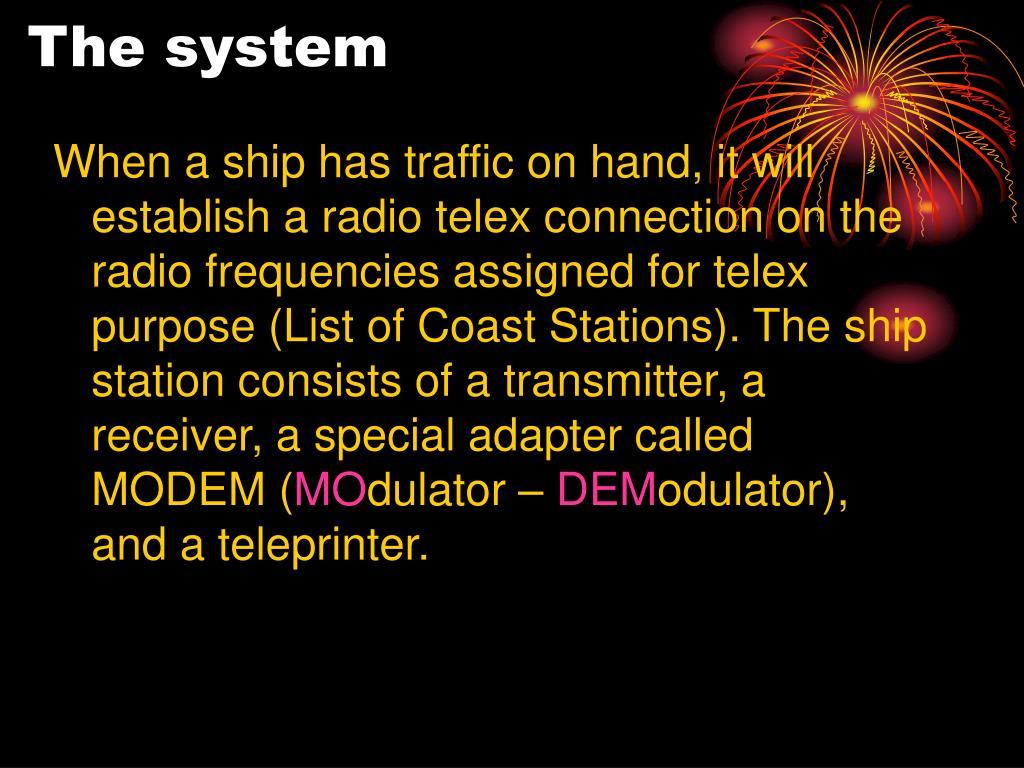 PPT - TELEX OVER RADIO PowerPoint Presentation - ID:1127888