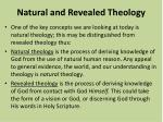 natural and revealed theology