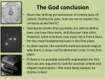 the god conclusion