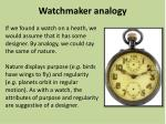 watchmaker analogy