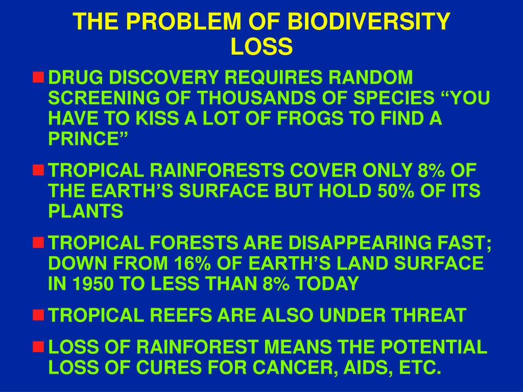 THE PROBLEM OF BIODIVERSITY LOSS